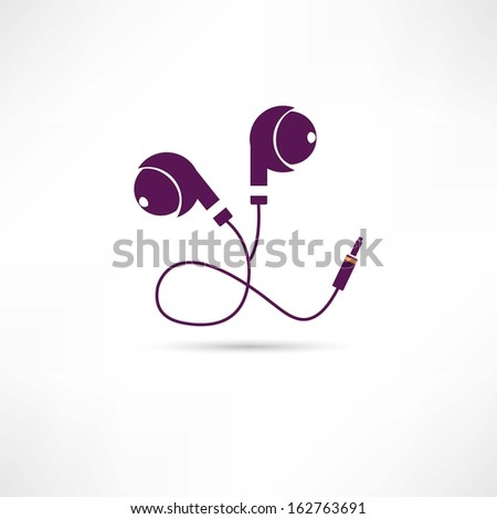earphone icon - stock vector