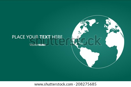 Earth background - stock vector