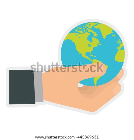 Earth concept represented by planet icon. isolated and flat illustration  - stock vector