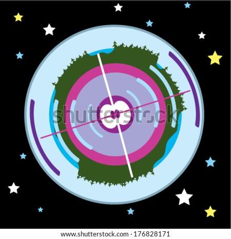 Earth core apple vector - stock vector