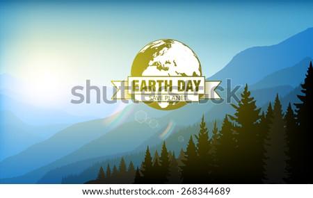 earth day - stock vector