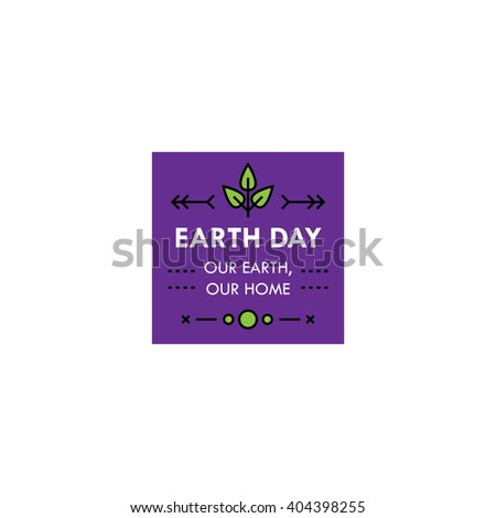 Earth day badges/labels. Natural, go green, save the earth. EPS10 - stock vector