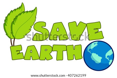Earth day concept, save the earth, vector illustration