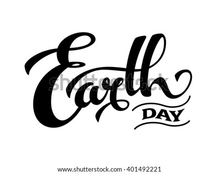 Line Art Earth : Earth day design stock vector hd royalty free