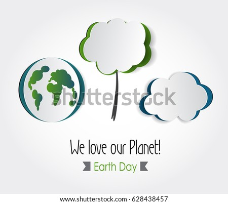 Earth day eco friendly ecology conceptvector stock vector 2018 628438457 shutterstock