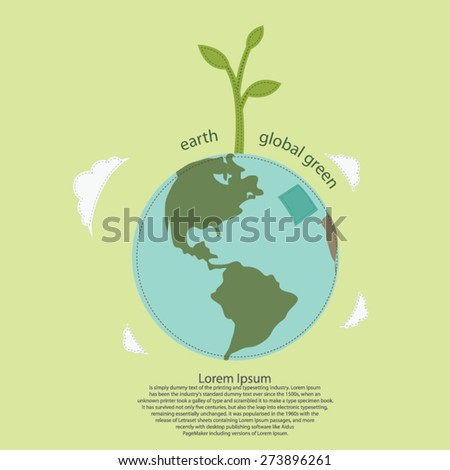 Earth Day Global with leaves