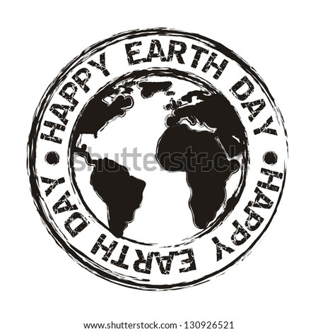 earth day over white background. vector illustration - stock vector