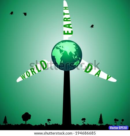 earth day with environment concept - vector eps10 - stock vector