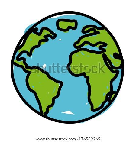 earth design over white background vector illustration - stock vector