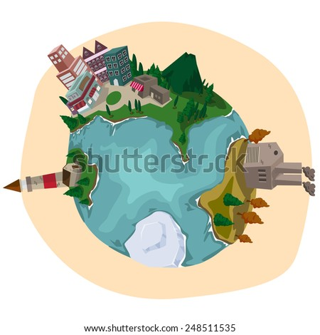 earth ecology - stock vector