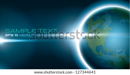 earth from space editable vector template - stock vector