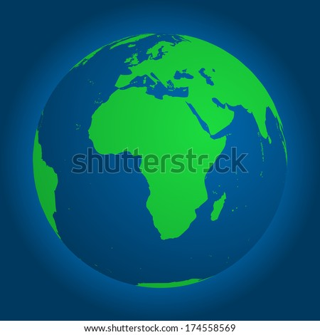Earth globe - stock vector