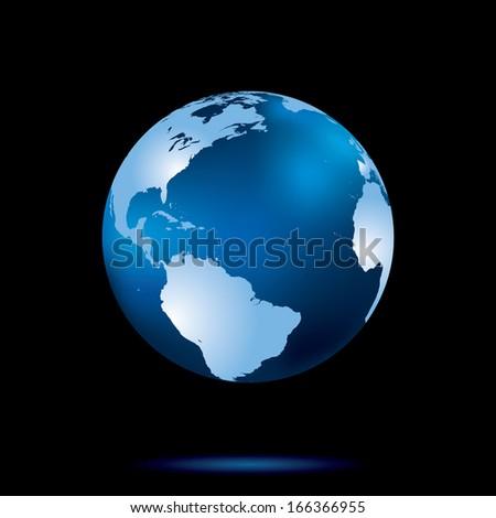 Earth globe vector illustration. - stock vector