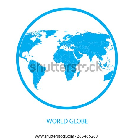 Earth globe - world map vector - stock vector