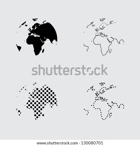 Earth globes - stock vector