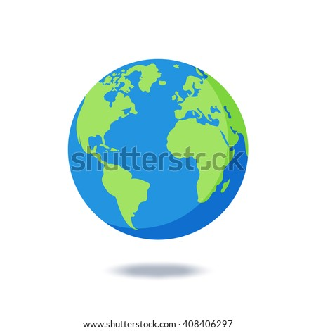 Earth Globes Isolated On White Background Stock Vector ...