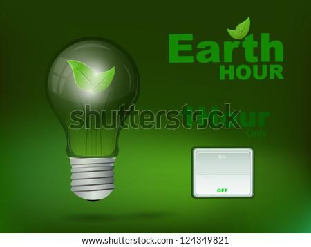Earth Hour - stock vector