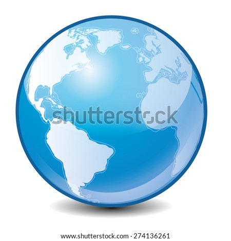 Earth icon - stock vector