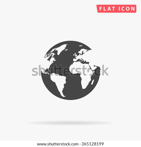 Earth Icon Vector.  - stock vector