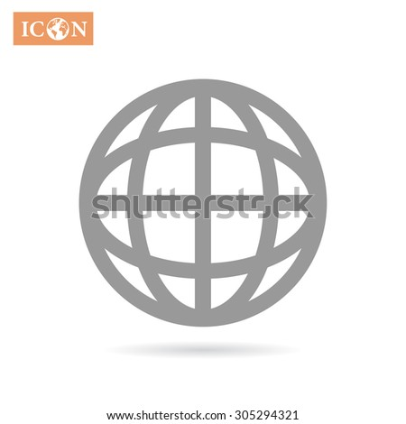 earth icon. Vector, Eps 10 - stock vector