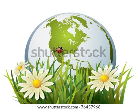 Earth in grass