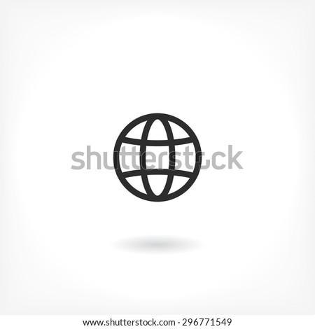 earth  line vector icon - stock vector