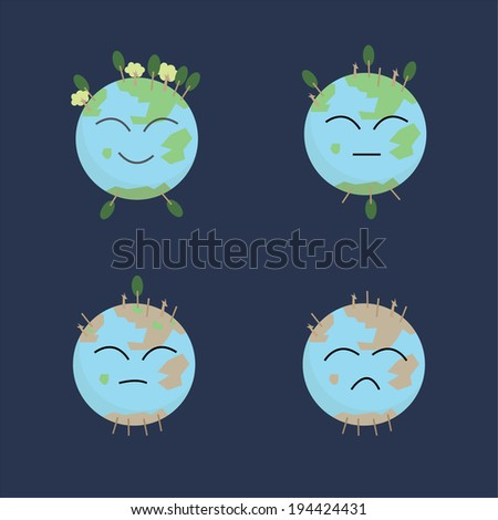 Earth may cry - stock vector