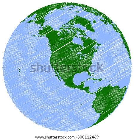 Earth north america isolated on a white background - stock vector