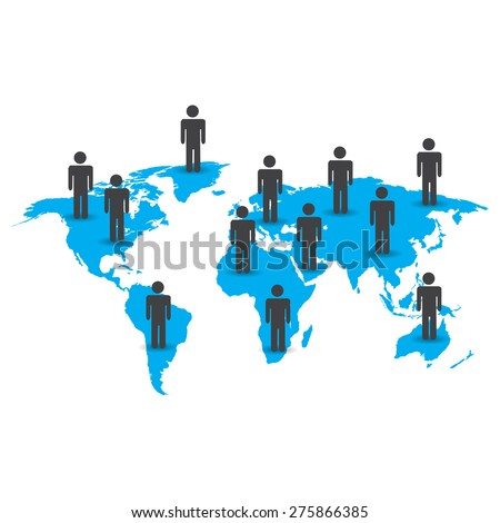 Earth people vector illustration - stock vector