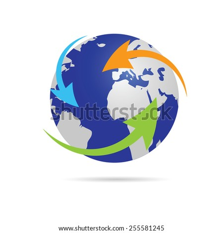 earth planet globe vector - stock vector