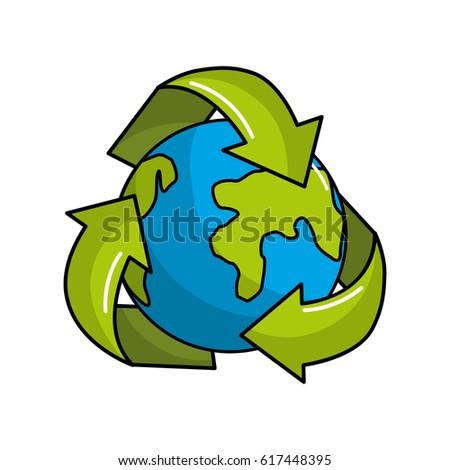 Earth Cartoon Recycle