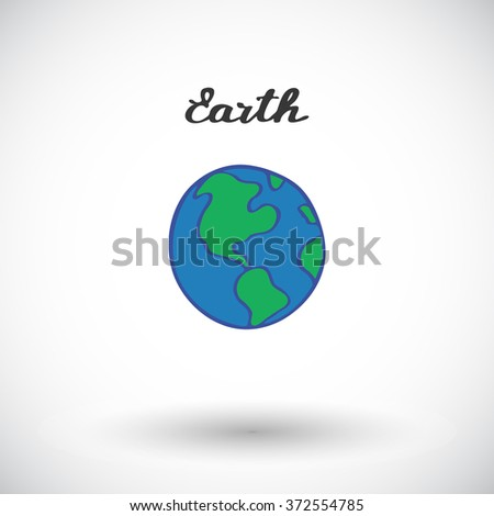 Earth sketch. Hand-drawn cartoon planets - Solar system. Doodle drawing. Vector illustration.  - stock vector