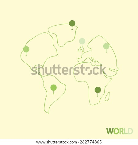 Earth Travel, vector illustration - stock vector