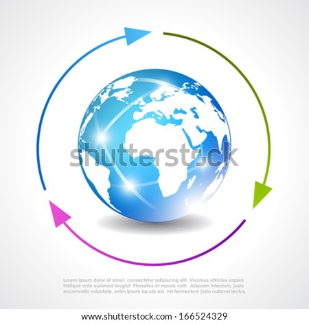 Earth vector poster - stock vector