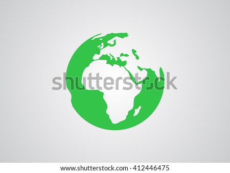 Earth web icon. vector design