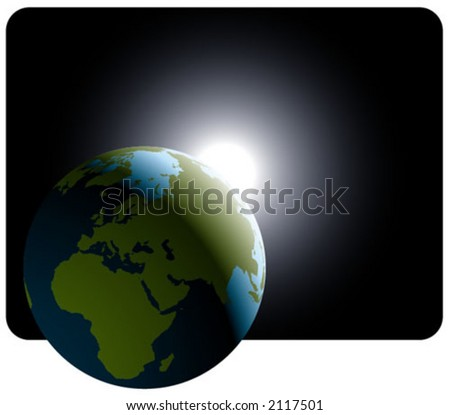 earth with light of hope