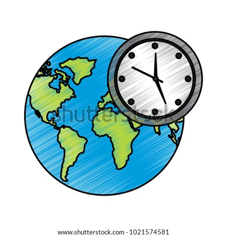 Earth world clock time environment symbol stock vector hd royalty earth world clock time environment symbol gumiabroncs Images