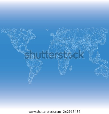 Earth World Map. Low poly vector illustration  - stock vector