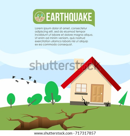 Great Earthquake Disaster Ground Crevice House Crack Stock Vector 717317857    Shutterstock