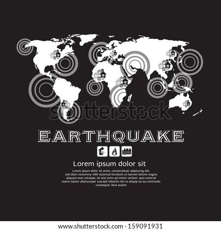 Earthquake Vector Illustration EPS10 - stock vector