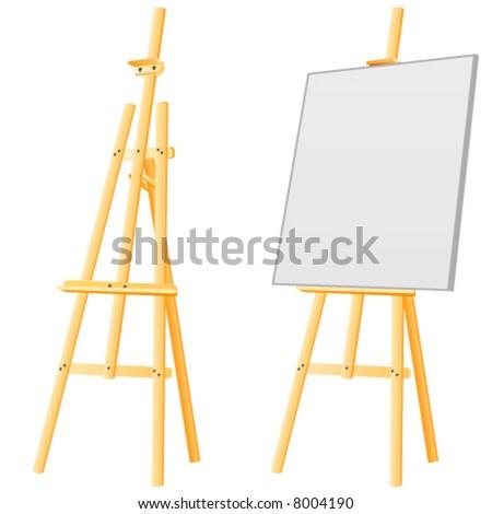 easel board - stock vector