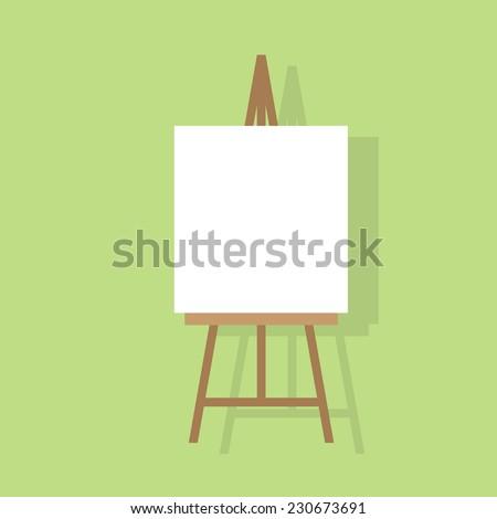 easel flat icon design vector illustration - stock vector