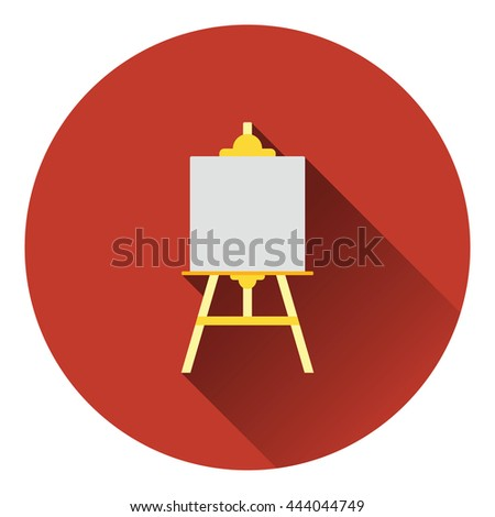 Easel icon. Flat color design. Vector illustration. - stock vector