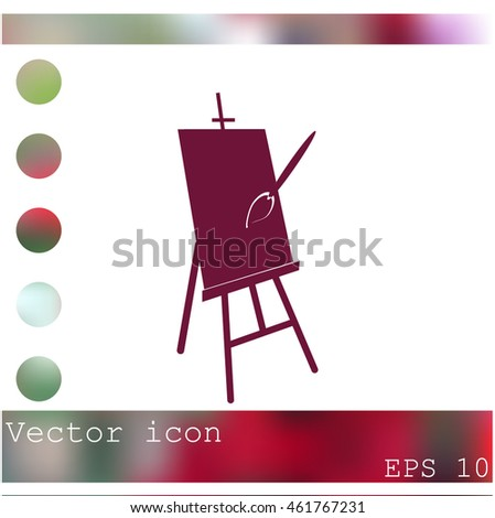 Easel vector icon