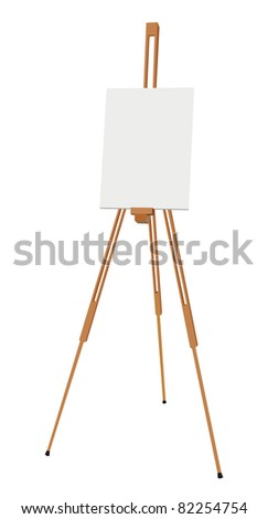 easel with canvas vector
