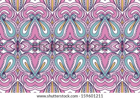 east seamless pattern - stock vector