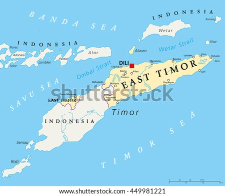 East timor political map capital dili stock vector 449981221 east timor political map with capital dili national borders important cities and rivers freerunsca Gallery