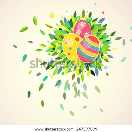 Easter background. Vector illustration - stock vector