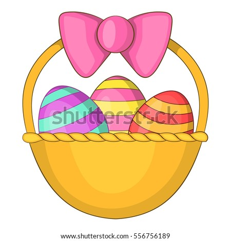 Easter Basket Icon Cartoon Illustration Of Vector For Web
