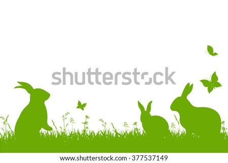 Easter Border, Vector Illustration - stock vector